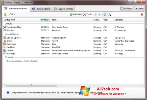 Screenshot Startup Delayer Windows 7