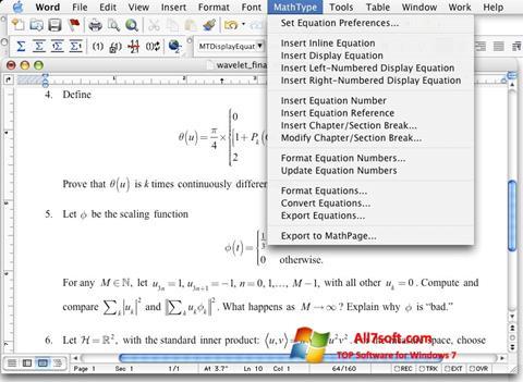 Screenshot MathType Windows 7