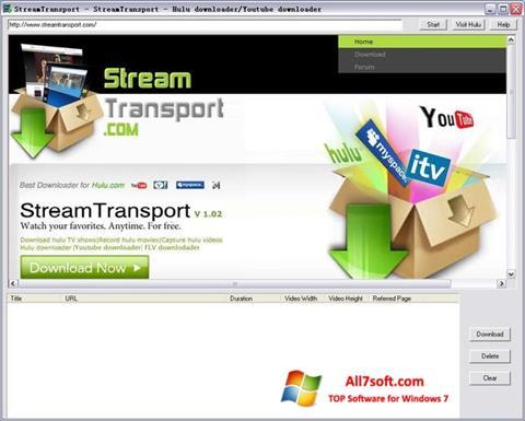 Screenshot StreamTransport Windows 7